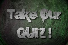 take our quiz concept - stock illustration