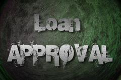 Loan approval concept Stock Illustration
