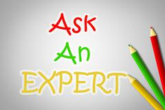 Ask an expert concept Stock Illustration
