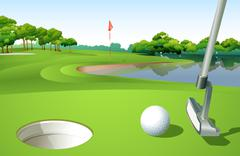 A golf course Stock Illustration