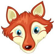 A head of a fox Stock Illustration