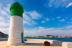 Beacon cartagena lighthouse in murcia spain Stock Photos