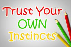 Trust your own instincts concept Stock Illustration