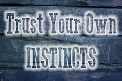 Stock Illustration of trust your own instincts concept