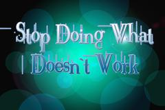 Stock Illustration of stop doing what doesn't work concept