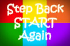 Step back start again concept Stock Illustration