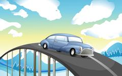 Stock Illustration of A car at the road