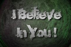 Stock Illustration of i believe in you concept