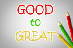 Stock Illustration of good to great concept