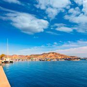 cartagena port in murcia at spain mediterranean - stock photo