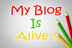 my blog is alive concept - stock illustration