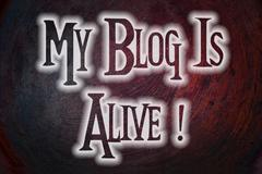 My blog is alive concept Stock Illustration