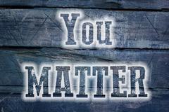 You matter concept Stock Illustration
