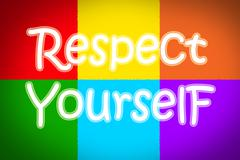respect yourself concept - stock illustration