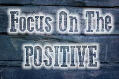 Focus on the positive concept Stock Illustration