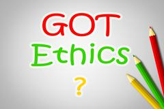 got ethics concept - stock illustration
