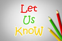 Let us know concept Stock Illustration