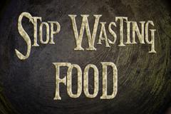 stop wasting food concept - stock illustration