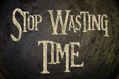 stop wasting time concept - stock illustration