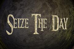 Seize the day concept Stock Illustration