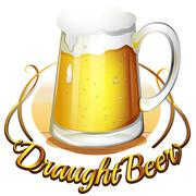 Stock Illustration of A draught beer label