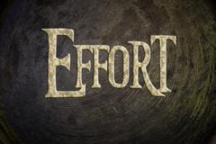 effort concept - stock illustration