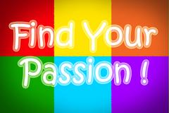 find your passion concept - stock illustration