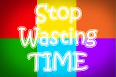 Stop wasting time concept Stock Illustration