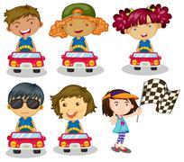 Kids car racing Piirros