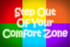 Step out of your comfort zone concept Stock Illustration