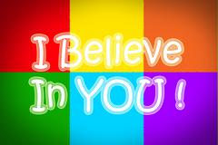i believe in you concept - stock illustration