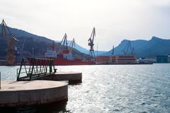 cartagena murcia port marina in spain - stock photo