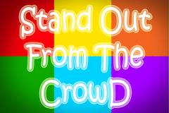 Stand out from the crowd concept Stock Illustration