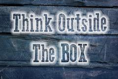 think outside the box concept - stock illustration