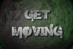 Get moving concept Stock Illustration