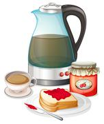 Apple jam and a pitcher of juice Stock Illustration