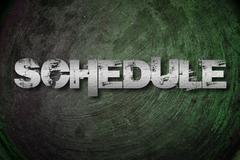 schedule concept - stock illustration