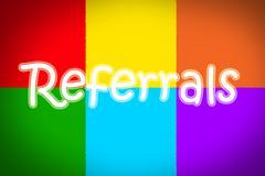 referrals concept - stock illustration