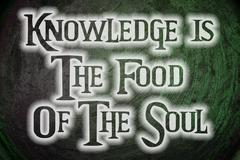 knowledge is the food of the soul concept - stock illustration