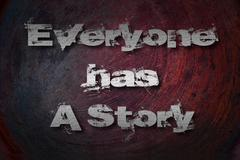 everyone has a story concept - stock illustration