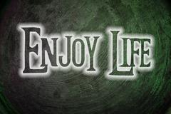 enjoy life concept - stock illustration
