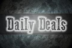 Daily deals concept Stock Illustration