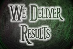 We deliver results concept Stock Illustration
