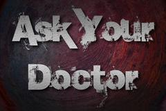 ask your doctor concept - stock illustration