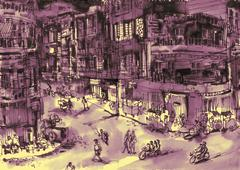 Urban scene Stock Illustration