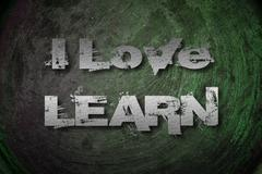 I love learn concept Stock Illustration