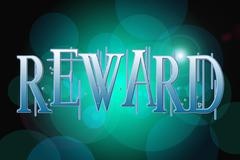 Reward word on vintage bokeh background, concept sign Stock Illustration