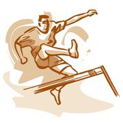 Stock Illustration of Hurdle jumper