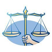 Libra astrological sign, illustration - stock illustration