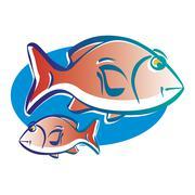 Stock Illustration of Pisces astrological sign, illustration